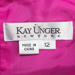 Kay Unger Dresses - Kay Unger Fuchsia Halter Bejeweled Dress